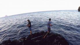 İki avcıya aynı zamanda gelen iki balık