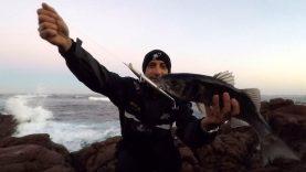 Kıyıdan 170 mm'lik maketle levrek avı