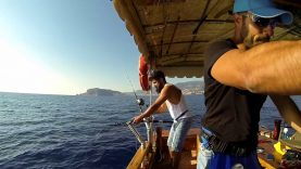 Yaklaşık 17 kg'lık kuzu balığı avı